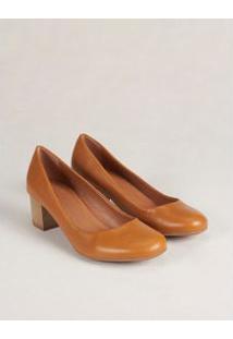 Scarpin Salto Madeira - Caramelo 35