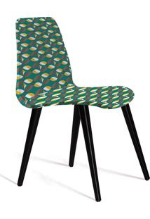 Cadeira Eames Tecido Pe Madeira Daf Colorido Verde