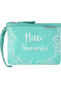 Necessaire Feminina Hello Summer Pequena (Verde, Único)