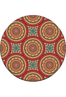 Tapete Love Decor Redondo Wevans Mandala Laranja 84Cm - Laranja - Dafiti