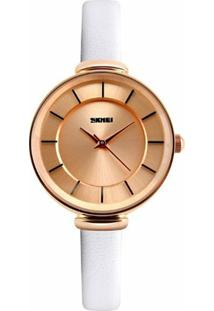 Relógio Skmei Analógico 1184 - Feminino-Branco