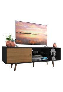 Rack Madesa Dubai Para Tv Até 65 Polegadas Com Pés - Preto/Rustic/Rustic Preto