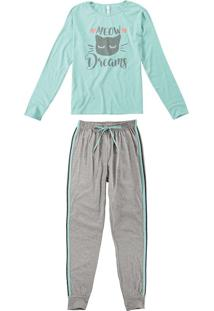 Pijama Longo Malha Feminino
