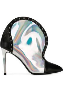 Balmain Ankle Boot De Couro 'Iren' - Prateado