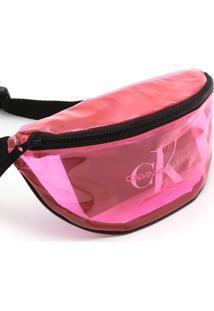 Pochete Calvin Klein Transparência Rosa