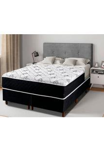 Cama Box King Com Pillow In Grecia - Mappin - Preto