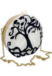 Bolsa La Madame Co Clutch Garden Tree Branca