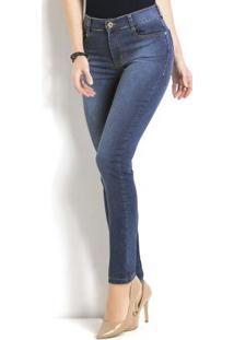 Calça Jeans Sawary Modelo Cigarrete Azul