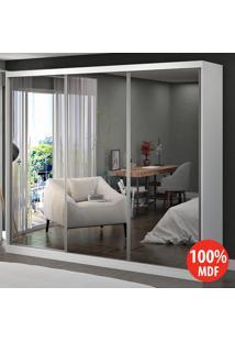 Guarda Roupa 3 Portas Com 3 Espelhos 100% Mdf 1904E3 Branco - Foscarini