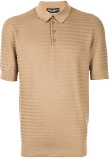 Dolce & Gabbana Henley Polo Shirt - Marrom