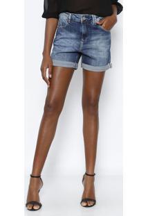 Bermuda Jeans Estonada Com Barra Italian- Azulvide Bula