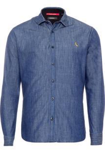 Camisa Masculina Regular Itatira - Azul