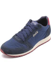 Tênis Coca Cola Shoes Recortes Azul