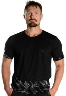 Camiseta Black Flag 1/4 Militar Camuflada