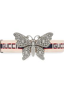 Gucci Cinto Com Detalhe De Borboleta - Branco