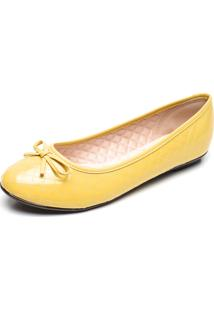 Sapatilha Moleca Matelassê Amarelo