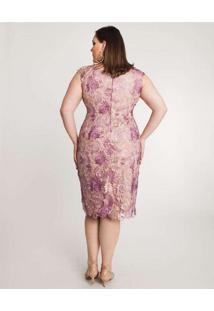 Vestido Almaria Plus Size Pianeta Rosa
