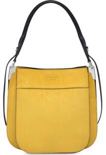 Prada Bolsa Margit De Camurça - Amarelo