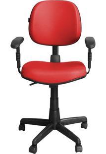 Cadeira Pethiflex Ce-Ergonômica Giratória Couro Vermelho