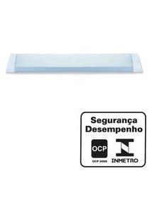 Luminária De Sobrepor Led Linear Para Teto 18W Bivolt Branca Ecoforce