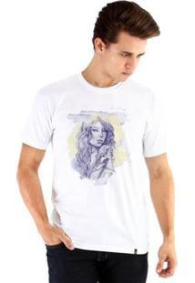 Camiseta Ouroboros Manga Curta Mulher Tatuada - Masculino-Branco