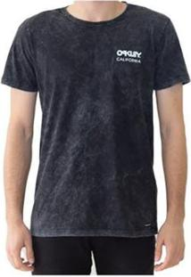 Camiseta Oakley Poisonous Masculino - Masculino-Preto
