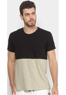 Camiseta Foxton Bicolor Masculina - Masculino