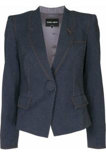 Giorgio Armani Blazer Slim Cropped - Azul