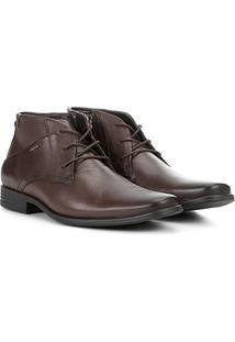 Sapato Social Ferracini Cano Médio Perfuros Masculino - Masculino-Tabaco
