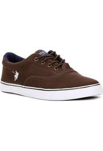 Tênis Casual Masculino Polo Shoes Vintage Marrom