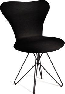 Cadeira Jacobsen Butterfly T401-Daf Mobiliário - Preto