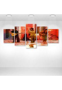 Quadro Decorativo - Art - Composto De 5 Quadros - Multicolorido - Dafiti