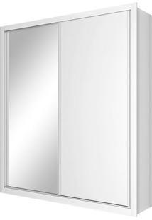 Guarda Roupa Solteiro Madrid 2 Portas Com Espelho Branco