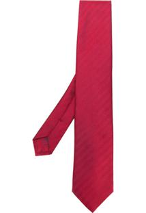 Brioni Gravata Texturizada - Vermelho