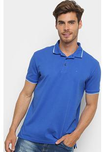 Camisa Polo Ellus Frisos Classic Masculina - Masculino-Azul Escuro