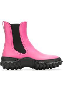 Marni Ankle Boot De Couro - Roxo