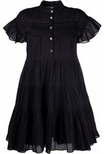 Isabel Marant Étoile Lanikaye Cotton Mini Dress - Preto