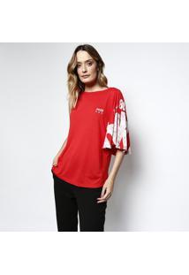 Camiseta Assimétrica ''Delicious 86'' - Vermelha & Branccoca-Cola