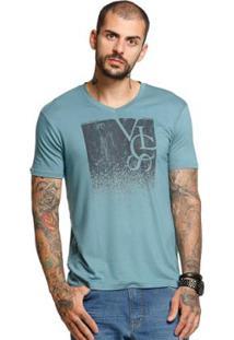 Camiseta Manga Curta Vlcs Masculina - Masculino-Verde