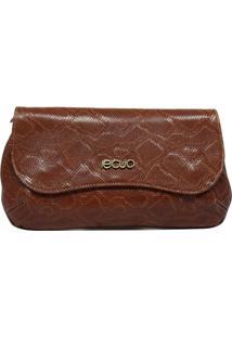 Bolsa De Couro Recuo Fashion Bag Clutch Caramelo/Telha