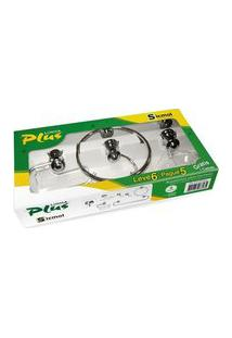 Kit P/ Banheiro Em Alumínio Plus C/ 5 1 Pçs Especial Copa Sicmol