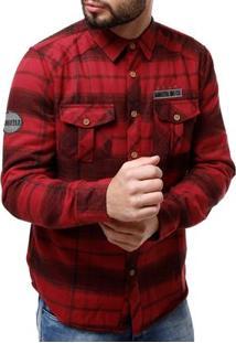 Camisa Forrada Masculina Gangster Vinho