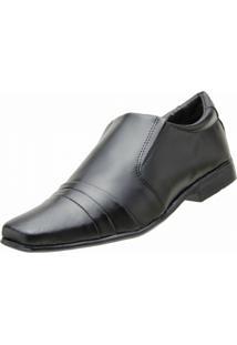 Sapato Social Ferruci Recortes Preto