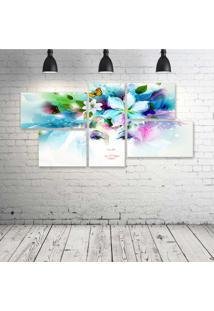 Quadro Decorativo - Art-Artwork-Fantasy-Artistic-Original - Composto De 5 Quadros - Multicolorido - Dafiti