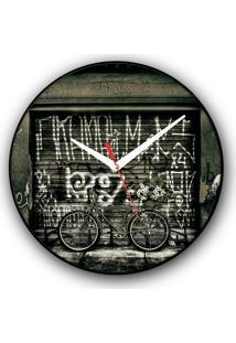 Relógio De Parede Colours Creative Photo Decor Decorativo, Criativo E Diferente - Bicicleta Bike Pink