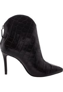 Bota New Western Croco Black | Schutz