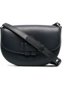 Tila March Zelig Mini Leather Satchel Bag - Azul