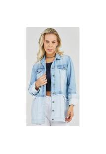 Maxi Jaqueta Jeans Express Longa Yasmin Azul