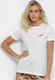 Camiseta Cantão Básica Feminina - Feminino-Off White
