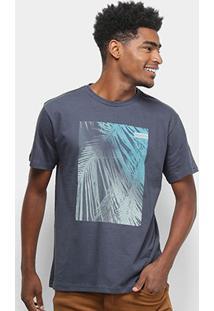 Camiseta Nicoboco Básica Dover Masculina - Masculino-Chumbo